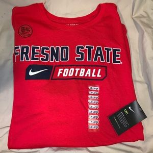 NWT Nike dri-fit Fresno State Football T-shirt